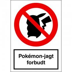 Pokémon-jagt forbudt
