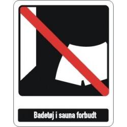 Badetøj i sauna forbudt