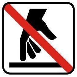 Berøring ikke tilladt