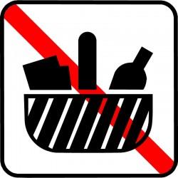 Medbragt mad og drikke må ikke nydes her