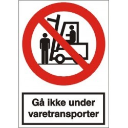 Gå ikke under varetransporter