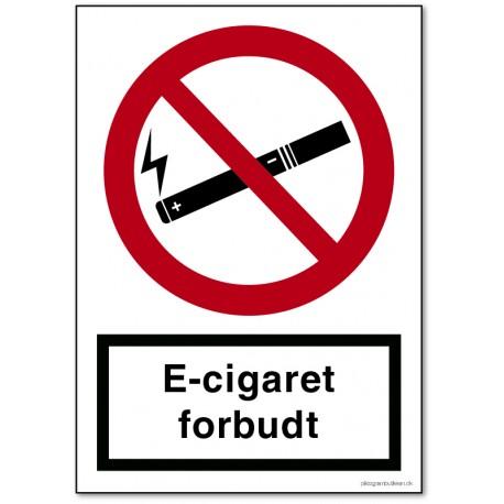 E-cigaret forbudt