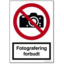 Fotografering forbudt