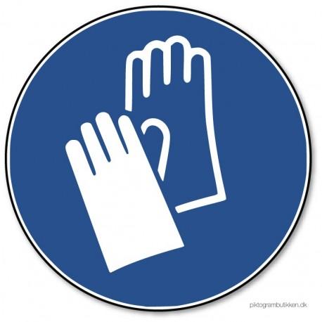 Beskyttelseshandsker påbudt