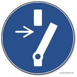 Afbrydes inden der udføres vedligehold eller reparation