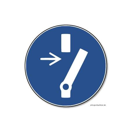 Afbryd inden der udføres vedligehold eller reparation