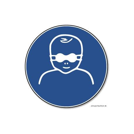 Uigennemsigtig øjenbeskyttelse til småbørn påbudt