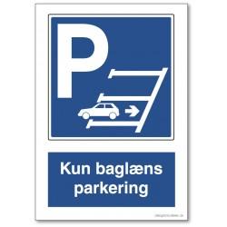 Kun baglæns parkering