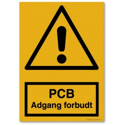 PCB adgang forbudt