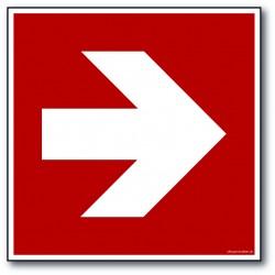Pil - kvadratisk skilt