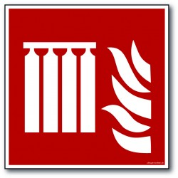 Brandmandselevator - kvadratisk skilt