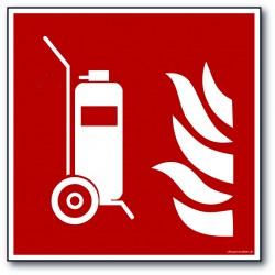 Brandslukker på vogn