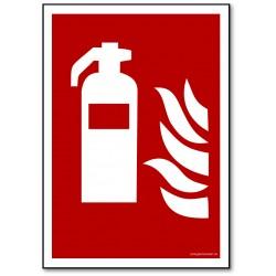 Brandslukker - rektangulært skilt