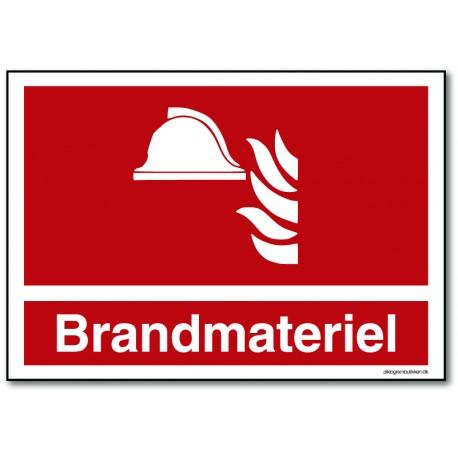 Brandmateriel - rektangulært skilt