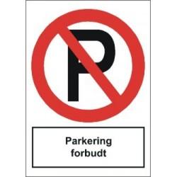 Parkering forbudt