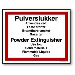 Pulverslukker DK/EN