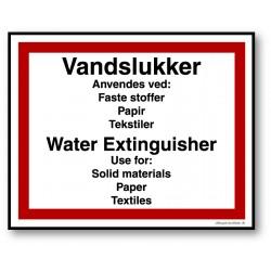 Vandslukker DK/ENG skilt