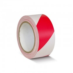 Rød/Hvid afmærkningstape
