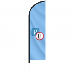 Beachflag Medium, 89x240 cm