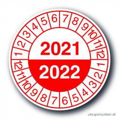 Servicemærkater 2021/2022, rød, 25 stk.