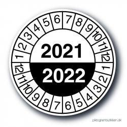 Servicemærkater 2021/2022, sort, 25 stk.