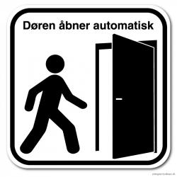 Døren åbner automatisk