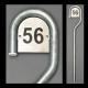 130 cm galvaniseret husnummerstander