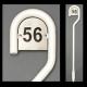 130 cm hvidlakeret husnummerstander