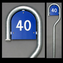 160 cm galvanized house number sign