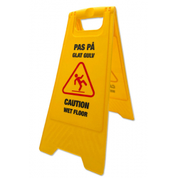 Pas på - Glat gulv