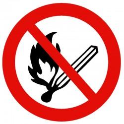 Rygning og åben ild forbudt