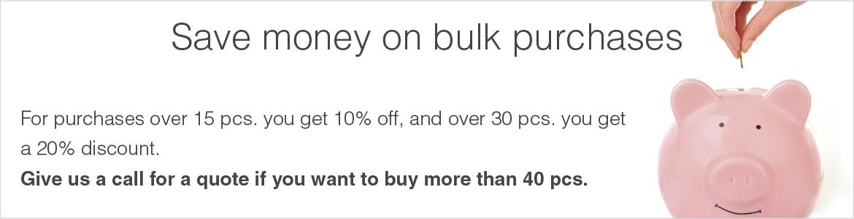 Save money on bulk purchases