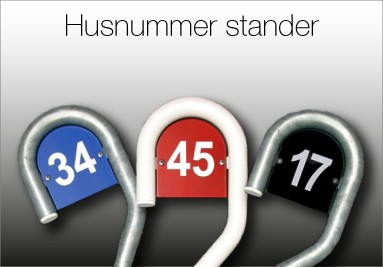 Husnummer stander